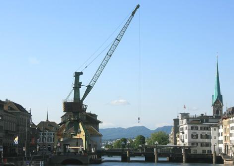 Hafenkran in Zürich, 2014