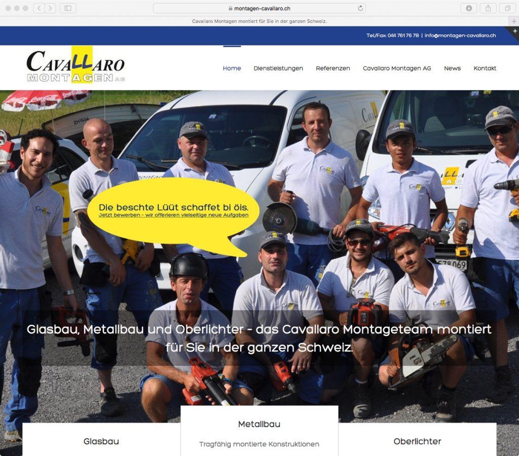 SEO Texte für neue Website von Cavallaro Montagen AG